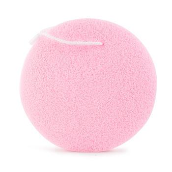 优家(UPLUS)加厚加大圆形洗脸扑洁面扑  颜色随机