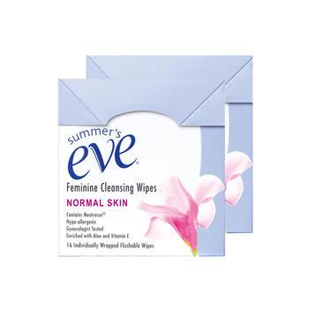 美国•夏依女性清洁湿巾(清新花香型)16片*2盒