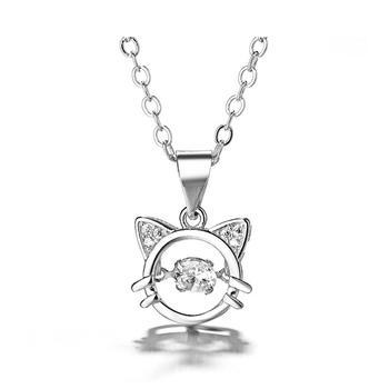 萌宠甜美闪锆猫咪锁骨链精致工艺时尚气质百搭