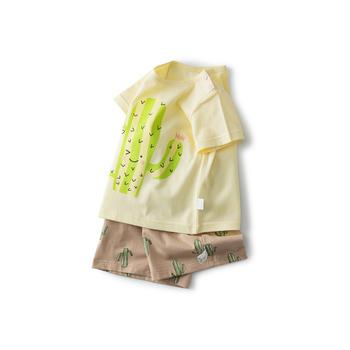 Cipango 夏季新款可爱宝宝短袖衣服 婴幼儿纯棉衣服