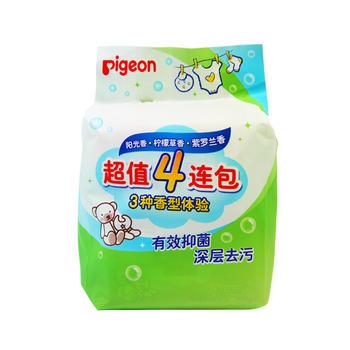 贝亲超值4连包洗衣皂三种香型体验 PL332