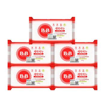 B&B 婴幼儿衣物尿布清洁?#31034;?#39321;皂 200g*5