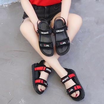 艾薇妮夏季休闲运动平底魔术贴舒适凉鞋