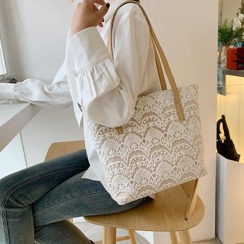 宾尼兔夏季时尚镂空蕾丝单肩女包百搭休闲大包包