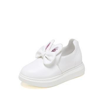 鞋柜童鞋 春秋款中童女鞋蝴蝶结装饰运动鞋套脚单鞋