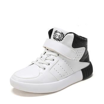 shoebox鞋柜秋新款休闲韩版大童高帮运动鞋