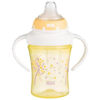 NUK宝宝学饮杯儿童水杯200ml双柄透明学习软鸭嘴杯