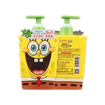 海绵宝宝儿童滋养橄榄优护三合一400ml(两瓶装)