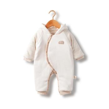 谷斐尔婴儿连体衣秋冬款加厚爬服宝宝保暖新生儿外衣