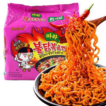 韩国三养超辣火鸡面五连包135g*5鸡肉味麻辣香锅拌面
