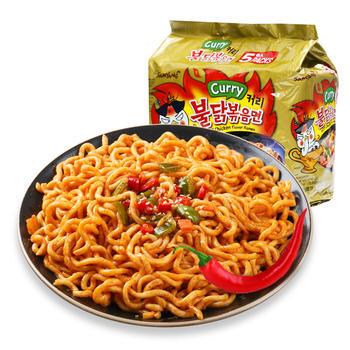 韩国三养火鸡面咖喱鸡肉味方便面速食拌面五连包