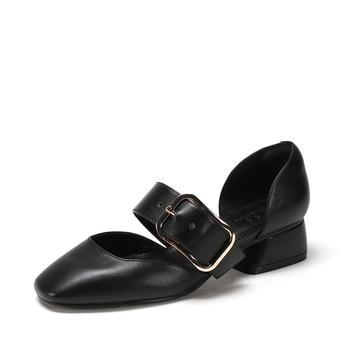 SHOEBOX/鞋柜腰带扣低帮鞋喇?#38592;?#21333;鞋女1718202048