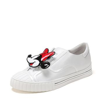 SHOEBOX 鞋柜牛皮革低跟平底套脚单鞋女鞋1118101308