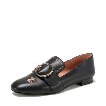 SHOEBOX/鞋柜春新款时尚AB款字母电绣单鞋女1118101512
