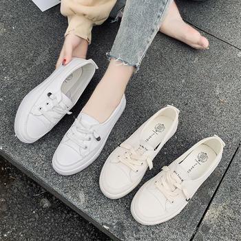 蝶恋霏韩版时尚百搭一脚蹬平底小白鞋