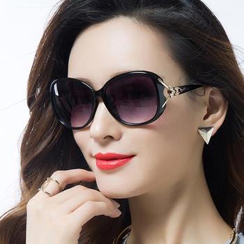 威古氏Slashyouth女士偏光太阳镜修脸镶钻华丽气质墨镜