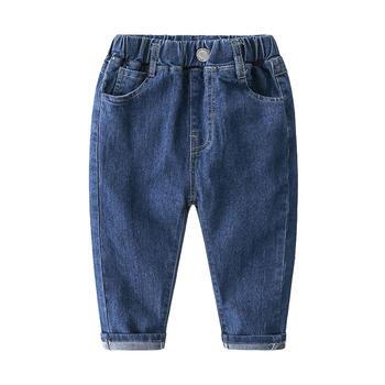 贝壳元素男童水洗牛仔裤秋装童装休闲长裤子kzc517
