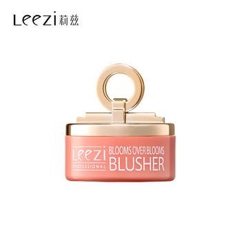 莉兹小铃铛粉嫩蘑菇头修容提亮高光一体腮红