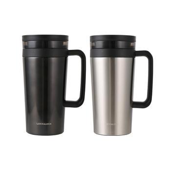 乐扣乐扣560ml办公室商务泡茶杯不锈钢保温杯水杯
