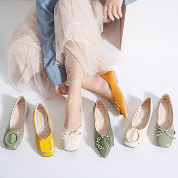 Tatyana韩版新款晚晚仙女风气质浅口单鞋女