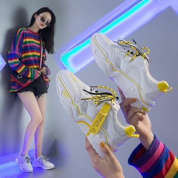 蝶恋霏秋冬新款韩版时尚百搭拼色透气网面运动小白鞋