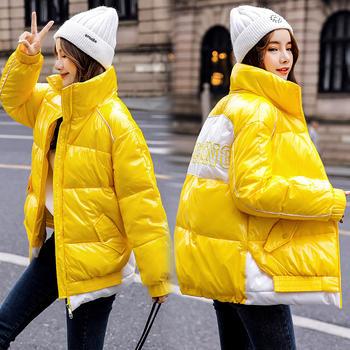 显瘦棉衣棉服保暖短款拼接长袖气质百搭外套