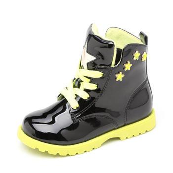 shoebox/鞋柜镜面加绒马丁靴
