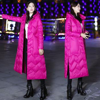 民族风女装轻薄羽绒服女中长款学生韩版宽松过膝外套