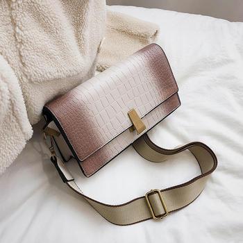 INME鳄鱼纹气质包包女2019新款潮时尚女包单肩包斜挎包