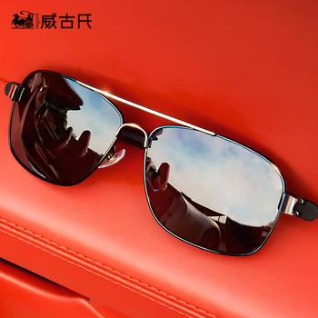 威古氏方框太阳镜偏光司机镜男士商务休闲时尚驾驶镜偏光墨镜