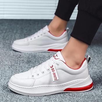 跨洋男士新品透气时尚板鞋防滑小白鞋