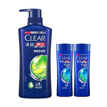 【吴亦凡同款】清扬男士去屑洗发水露清爽控油型500g+100g