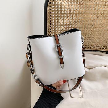 INME小包包女2020新款潮流行百搭单肩斜挎包夏天时尚洋气水桶包4色