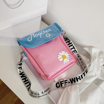 麦尔本透明pvc夏季新款日系少女软妹小挎包百搭简约糖果拼色斜挎包