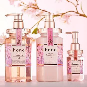 日本honey安蒂花子蜂蜜水感丰盈滋养洗发水洗护套装樱花味无硅油