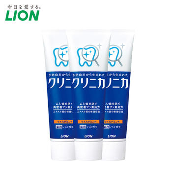 日本进口LION狮王齿力佳成人酵素含氟牙龈护理牙膏130g三支装