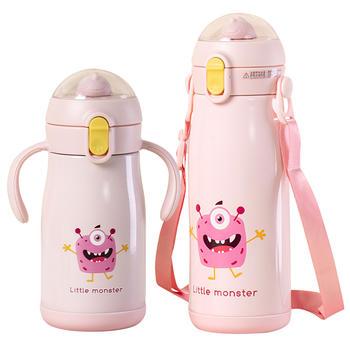 儿童保温杯带吸管水杯子小学生男便携女防摔防漏水壶幼儿园宝宝