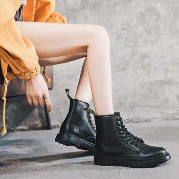 猩猩猴马丁靴女ins潮2020年秋冬新款厚底单靴英伦风八孔真皮短靴子