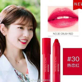 Mamonde韩国梦妆花心绒唇膏笔2.5g 30#热恋红