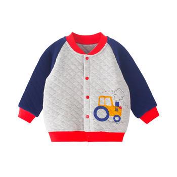 宝然男宝宝保暖外套婴儿夹丝上衣